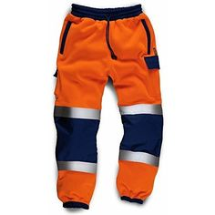 Brand: Army And Workwear Color: ORANGE / NAVY Features:  Quality work jogging pants Two zipped hand
