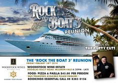We are holding a reunion party for the 'Rock The Boat 3' tour of the pacific on February 28th 2014.We would love our Cruise Shipmates and most importantly potential Shipmates of the future to come out to Woodstock and sample some of the fun we enjoyed in October 2013. There will be bus transfers available … October 2013, Italian Style, Woodstock, The Rock, Wines, Hold On, Cruise, Boat, Tours