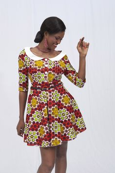 The Prettiest Dresses Are Made Of Beautiful Print (Uniwax) African Dresses For Women, African Print Dresses, African Attire, African Wear, African Fashion Dresses, African Women, African Prints, African Inspired Fashion, African Print Fashion