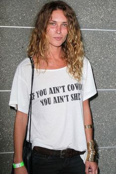 Erin Wasson looking effortlessly rad as per usual. #graphictee