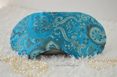 Couture Sleep/Travel/Eye Mask ~ Multi Color Turquoise ~ Bridal Party, Evening Wear, Gift ~ Light Blocking ~ READY TO SHIP