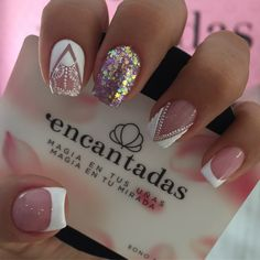 French Nail Designs, Nail Art Designs, Mani Pedi, Manicure, Nail Time, Nail Decorations, Gorgeous Nails, French Nails, Nail Inspo