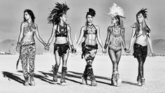 The glamour squad hits Burning Man