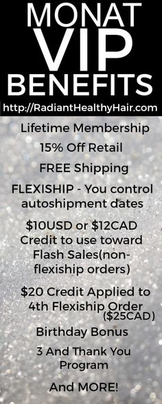 #MONAT #VIP Customer Loyalty Program Details.   Ask me how!  Join the Monat family!! I'd be happy to have you on my team!!!