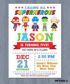 Superhero Birthday Invitations Party 4th Parties 5th Super