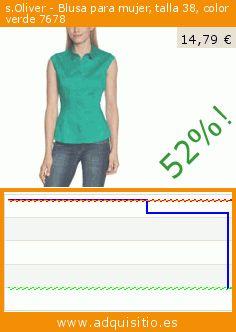 s.Oliver - Blusa para mujer, talla 38, color verde 7678 (Ropa). Baja 52%! Precio actual 14,79 €, el precio anterior fue de 30,98 €. https://www.adquisitio.es/soliver/blusa-mujer-talla-38