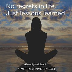 Image result for no regrets in life just lessons learned, beach