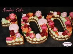 Recette de Number Cake ou Gâteau Chiffre : Mon gâteau des 100 000 abonnés ! - YouTube
