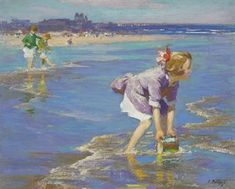 Wading by Edward Henry Potthast (1857-1927). Sold at Christies in May 2009, for $386,500.