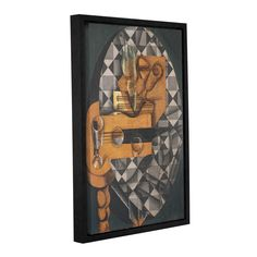 ArtWall Gris Juan's 'Guitar Bottle and Glass1914' Gallery Wrapped Floater-framed