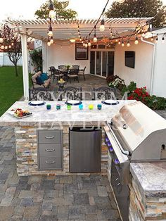 Find out the best and awesome outdoor kitchen design plans, kits & ideas for your dream home #LandscapeDesignPlans