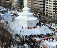 Snow and ice sculpture festival opens in Sapporo, Japan - Telegraph