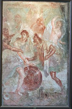 Achilles on Skyros: Fresco from Pompeii