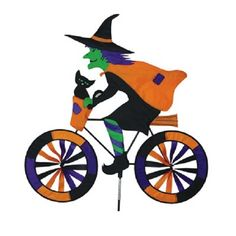 PR 26756 Witch in a Car Vehicle Staked Wind Spinner with Pole Ground Mount..24.