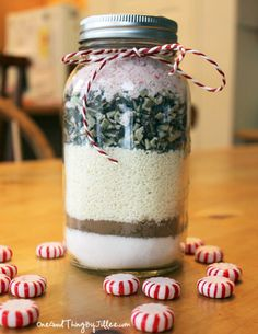 Homemade Mint Hot Chocolate Mix!