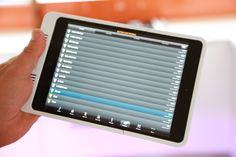 Can also be controlled by any tablet with WiFi & 3G network.