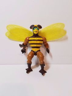 Vintage He-Man MOTU Masters of the Universe Action Figure Buzz-Off Complete Toy #Mattel