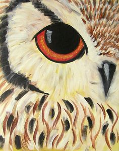 I just love this owl painting! I wish I could paint like this! Owl Art, Bird Art, Art Plastique, Painting Inspiration, Amazing Art, Awesome, Painting & Drawing, Art Drawings, Art Projects