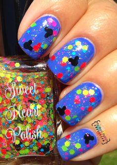 My Nail Polish Obsession: Sweet Heart Polish: Dahlia & Disneyland or Bust