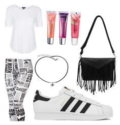 """""""It's Called Diverse"""" by obey-the-myla on Polyvore featuring Topshop, adidas, Frasier Sterling, Maybelline, women's clothing, women's fashion, women, female, woman and misses"""