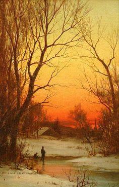 Tramonto 1885 Bruce Crane