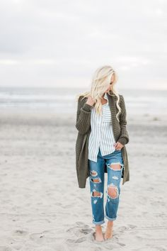 Winter Beach Style in Southern California