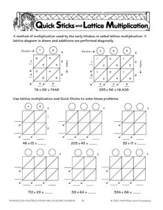 2-Digit Lattice Multiplication | Multiplication, Lattices and ...