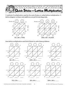 math worksheet : multiplication lattices and worksheets on pinterest : Blank Lattice Multiplication Worksheets