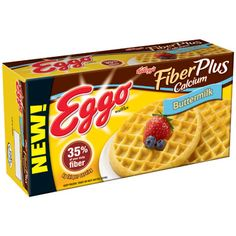"""No. 3 Eggo Fiber Plus Calcium Buttermilk Waffles """"I love the 9 grams of fiber for just 160 calories,"""" Miller says. Raise the protein in a waffle breakfast by smearing them with a tablespoon of peanut butter instead of sugary syrup.   Calories 160; Fat 6g (sat 1.5g); Protein 3g; Carbohydrate 29g; Fiber 9g; Sodium 390mg (for 2 waffles)"""