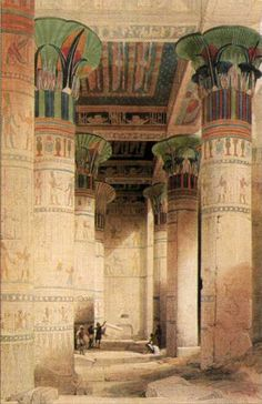 'Under the Grand Portico in the Temple of Isis' David Roberts (1838)