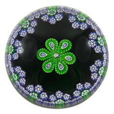Perthshire Millefiori Studio Glass Paperweight, 1977 Annual Collection   From a unique collection of antique and modern desk accessories at https://www.1stdibs.com/furniture/decorative-objects/desk-accessories/