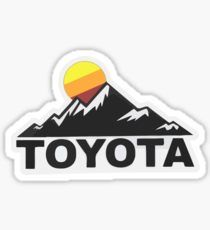 'Toyota Fan Design' Sticker by ChaseBig Toyota, Badge Design, Cart, How To Remove, Stickers, Retro, Advertising, Autos, Covered Wagon