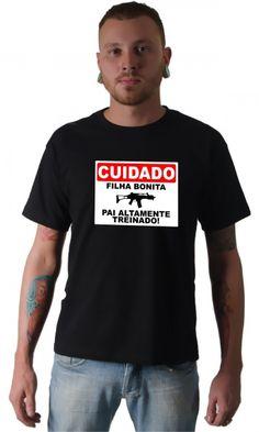 Camiseta - Pai treinado - Camisetas Personalizadas,Engraçadas|Camisetas Era Digital