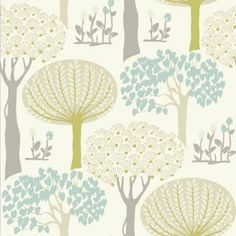 Modern use of colours! Arthouse Vintage Bernwood Wallpaper - Teal from Homebase.co.uk