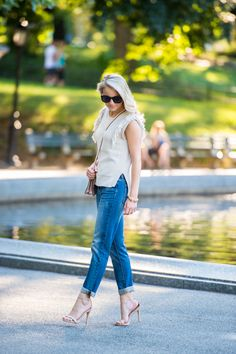 THE BOYFRIEND JEAN - Styled Snapshots, affordable boyfriend jeans, how to style boyfriend jeans, central park nyc, fall fringe trend, the best boyfriend jeans