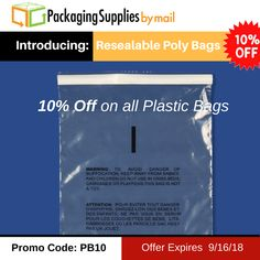 Ends Tomorrow ‼️ Grab your savings 🎁🎁🎁 🛍️Use coupon: PB10 🛍️ Offer Expires 9/16/2018 ⬅️⬅️⬅️ Shop Now: https://www.packagingsuppliesbymail.com/plastic-bags #Packaging #Shipping #Plastic #FreeShipping #Coupon #Packers #NewProduct #Reclosable #Bags