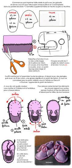 DIY chaussons bébé