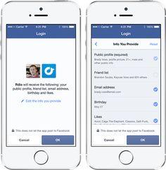 Der neue Facebook Login mit mehr Kontrolle und Anonymität