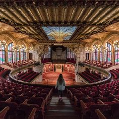 """Kicking off a new project in Catalunya! There is no better place to start this journey than Palau de la Musica in Barcelona. """"Maestro let the music begin!"""" #catalunyaexperience"""