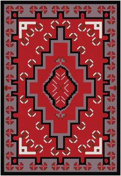 This cross stitch pattern features a design taken from a vintage Navajo rug – Latch Hook İdeas. Modern Cross Stitch, Cross Stitch Designs, Cross Stitch Patterns, Navajo Weaving, Navajo Rugs, Loom Bands, Knit Purl Stitches, Latch Hook Rugs, Swedish Weaving