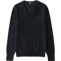 Women's Cashmere V-Neck Sweater, BLACK
