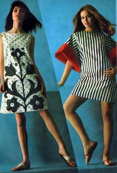 1960's fashion- Barbara Bach to the right