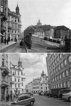 Kaprova ulice More Pictures, Most Beautiful Pictures, Prague Czech, Old Paintings, Czech Republic, Vintage Images, Time Travel, Old Photos, Black And White