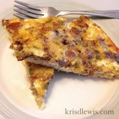 21 Day Fix Cheesy Sausage Quiche. Freezer meal.