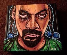 SNOOP DOGG Cigar Box, Custom Cigar Box Art, Snoop Dogg, Hip Hop, Smoking Décor, Fine Art, Cigar Box Art, Stash Box, Cigar Box Hand Painted by TimothyDaviesArt on Etsy
