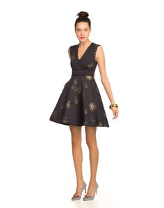 Cynthia Rowley - Bonded Squared V-Neck Party Dress | Dresses