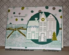 Stamp With Trude Christmas card by Trude Thoman #Stampin'Up! Holiday home stamp set