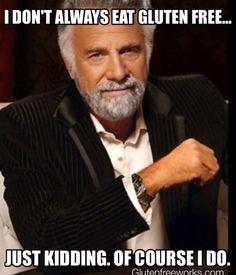 Gluten free funny meme