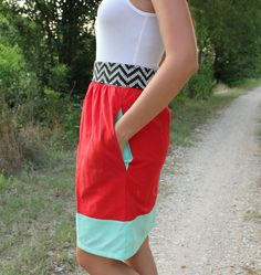 color block diy dress