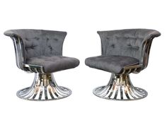 Two Pair Russell Woodard Polished Aluminum Lounge Chairs | From a unique collection of antique and modern lounge chairs at http://www.1stdibs.com/furniture/seating/lounge-chairs/